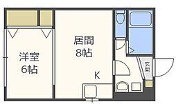 ノースハイム円山公園[2階]の間取り