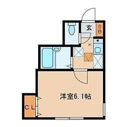西武池袋線 東長崎駅 徒歩7分の賃貸アパート 1階1Kの間取り