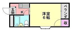 パークサイドフジII[4-A号室]の間取り