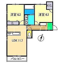 ベレオ神田[3階]の間取り