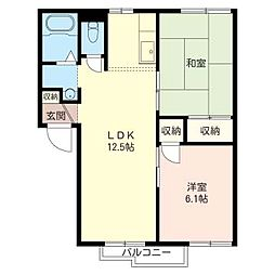第三 押田 ハイツ[2階]の間取り