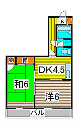 若海ハイツ[3階]の間取り