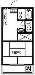 東京都府中市紅葉丘2丁目の賃貸アパートの間取り