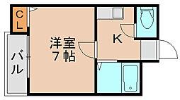 フォルム九大東[1階]の間取り