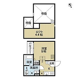 Casa del canario 諏訪ノ森[1階]の間取り
