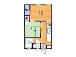 コーポ東和[1階]の間取り