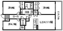 KAIZUKA REEPLEX RS[402号室]の間取り