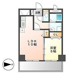 KIRAKUマンション[2階]の間取り