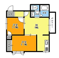 Casa VerdeB[1階]の間取り