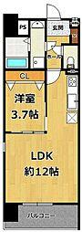 LOCUS2南武庫之荘1丁目新築[3階]の間取り