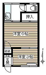 第二寿荘[2階]の間取り