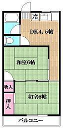 第2三雄荘[2階]の間取り