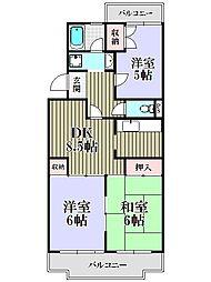 コスモ・ラ・フォーレ清瀬[2階]の間取り