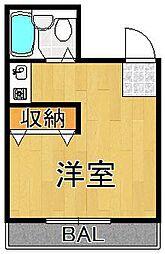 プチグレイス7番館[2階]の間取り