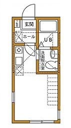 ハーミットクラブハウス霞ヶ丘[2階]の間取り