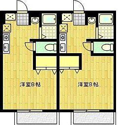 JR長崎本線 佐賀駅 バス8分 津留下車 徒歩9分の賃貸アパート 1階1Kの間取り