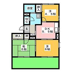 サウスウェーブ弐番館[1階]の間取り