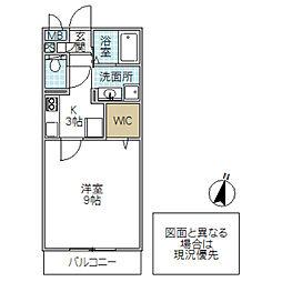 パークヒル櫻山[302号室号室]の間取り