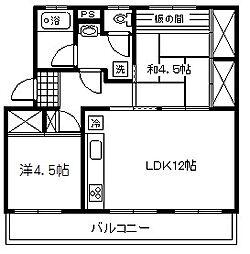 車返団地3街区4号棟[3階]の間取り