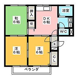 サンシャインK[2階]の間取り