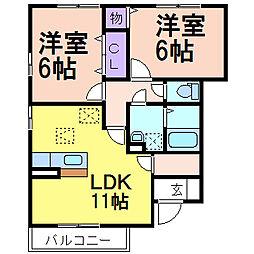 ライネスハイム B棟[1階]の間取り