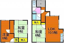 [一戸建] 岡山県岡山市北区西崎2丁目 の賃貸【/】の間取り