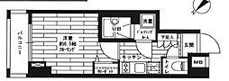 東京都新宿区戸塚町1丁目の賃貸マンションの間取り