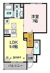 HACHI−KEN[1階]の間取り