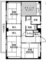 神奈川県中郡二宮町百合が丘3丁目の賃貸マンションの間取り