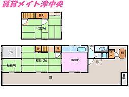 [一戸建] 三重県津市南中央 の賃貸【/】の間取り