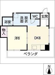 藤原マンション[4階]の間取り