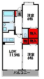ホクリマンションI[6階]の間取り