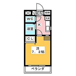 KII−OKASAN B.二番館[4階]の間取り