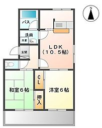 フィオーレ弐番館[1階]の間取り