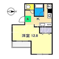 金子橋マンション[4階]の間取り