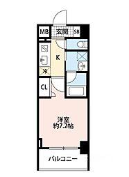 スプランディッド大阪WEST[802号室]の間取り