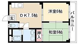愛知県名古屋市緑区徳重1丁目の賃貸マンションの間取り