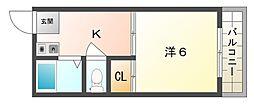 コーポタカハシ[4階]の間取り