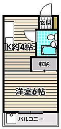 鈴木コーポ[3階]の間取り