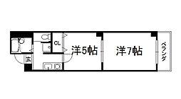マッケンジー東堀川[203号室]の間取り