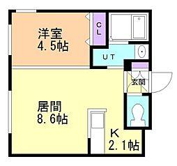 北海道札幌市中央区北二条西20の賃貸マンションの間取り
