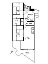 ミンクスマンション 弐番館[6階]の間取り