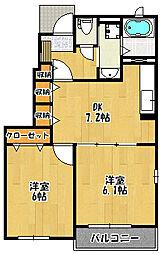 メゾンソレイユC棟[1階]の間取り