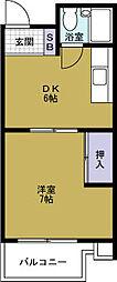 ハイム8848[6階]の間取り