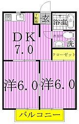 〜VILLA EAST LIVE NODA〜[202号室]の間取り