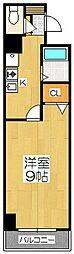 ラビーム河原町[1階]の間取り