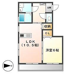 Ju・Ju[2階]の間取り