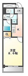 愛知県日進市栄1丁目の賃貸マンションの間取り