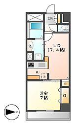 カスタリア新栄II[6階]の間取り
