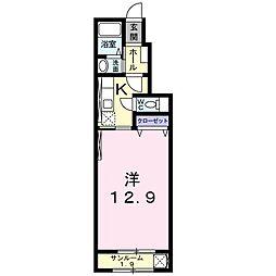 JR大糸線 北松本駅 徒歩29分の賃貸アパート 1階1Kの間取り